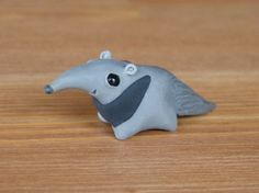 Tiny anteater - Handmade miniature polymer clay animal figure