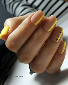 Cute & Easy Nail Designs for Short Nails Whoever said nail art requires longer . - Cute & Easy Nail Designs for Short Nails Whoever said nail art requires longer nails has never tri - Cute Easy Nail Designs, Short Nail Designs, Nail Art Designs, Nails Design, Cute Simple Nails, Perfect Nails, Cute Short Nails, Short Nails Art, Stylish Nails