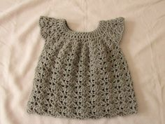 Dress Crochet Newborn Baby- Video Tutorial - Crochet Designs And Free Patterns