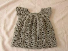 Dress Crochet Newborn Baby- Video Tutorial - Crochet Designs And Free Patterns