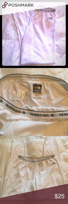 The North Face thermal leggings in white size Lg Never been worn. NWT. Selling because they've only sat in my drawer since purchase and are now too large for me to wear. They have VaporWick technology to also keep you cool if worn under garments while backpacking, etc. The North Face Intimates & Sleepwear