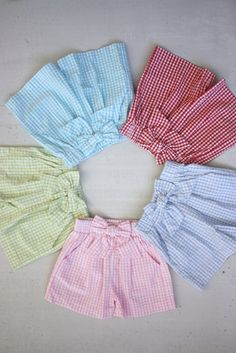 Bow Shorts - Little English classic children's clothing preppy children's clothing traditional children's clothing classic baby Baby Girl Dress Patterns, Dresses Kids Girl, Kids Outfits, Color Combinations For Clothes, Bow Shorts, Baby Girl Pants, Kids Fashion, Children Clothing, Monokini