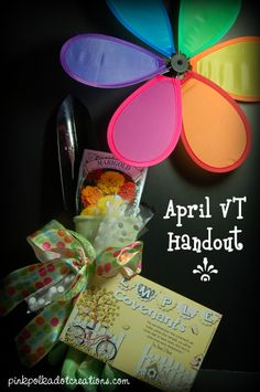 Pink Polka Dot Creations: April 2013 Visiting teaching handout and gift idea for spring!  Free printable.
