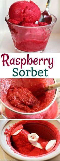 Sorbet Recipes, Raspberry Recipes, Homemade Sorbet, Raspberry Ice Cream
