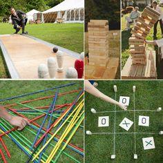 Juegos para el jardín. Ver más juegos en:  http://www.webcasamiento.com/juegos-de-boda/