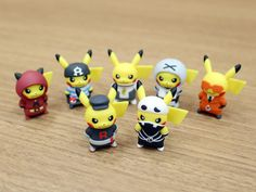 Evil Team Pikachu Figurines