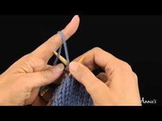Make 1 with Backward Loop to the Left - How to Increase: Learn how to knit the Make 1 with Backward Loop to the Left stitch with this free video from AnniesCatalog.com.