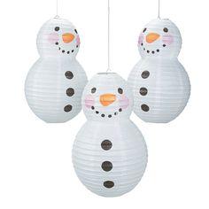 Snowman-Shaped+Paper+Lantern+-+OrientalTrading.com