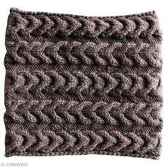 9708e8fa39a Tuto   Tricoter un snood à torsades inversées - Fiche technique Crochet et  tricot pas à