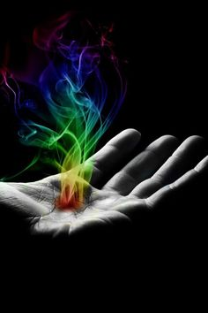 Healing hands. Many can feel a transfer of healing energy.