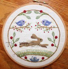 La liebre la lana para bordar bordado patrón y Kit