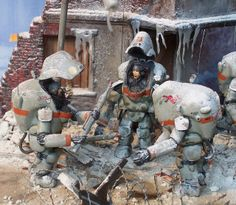 "1:35 Maschinen Krieger/SF3D - Commando ""Dead Snow"": Assault on Torifujiograd, Winter 2884 (Diorama competition submission) - Beauty shot by..."