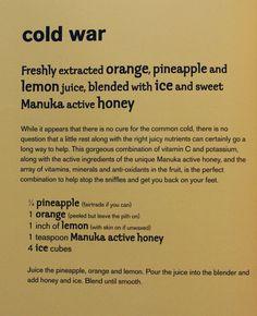 Jason Vale 'Cold War' juice recipe