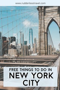 The top free things to do in New York City. #Travel #USA #Newyork #Free #Thingstodo Usa Travel Guide, Travel Usa, Travel Tips, Budget Travel, Travel Guides, North America Destinations, Top Travel Destinations, Free Activities In Nyc, New York City Travel