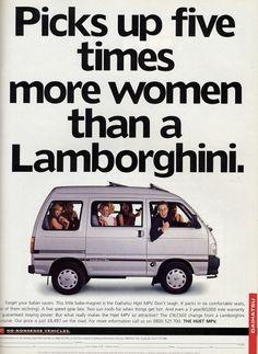 Picks up five times more women than a Lamborghini - Daihatsu