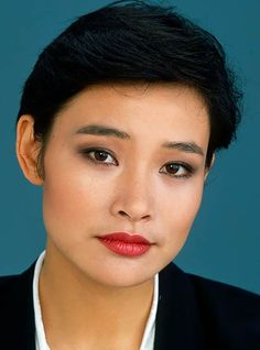 Joan Chen | I really wish I had her cheekbones. Then and only then could I probably make the pixie cut work for me.