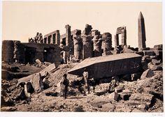 The Broken Obelisk, Karnak - Francis Frith