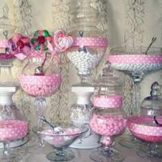 Pink and white candy bar buffet Pink Candy Buffet, Candy Buffet Tables, Dessert Buffet, Candy Table, Buffet Ideas, Lolly Buffet, Dessert Tables, Candy Bar Wedding, Wedding Favors