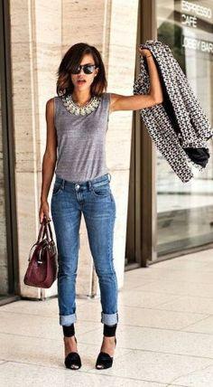 726b17687107 Μοναδικές επιλογές για σικάτο καθημερινό ντύσιμο το καλοκαίρι! Γυναικείο  ντύσιμο με τζιν 27 Ιδέες για