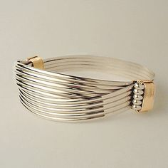 Bracelets 98480: Sterling Yellow Gold Filled 2 Knot 5 Strand Elephant Hair Style Safari Bracelet BUY IT NOW ONLY: $145.0