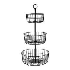 IKEA - SOMMAR 2017, 3-tier basket, Holds up to 25 pounds if hung from the top ring.The generous height of the serving basket makes it a beautiful centrepiece on the table and a festive way to serve fruit or bread.