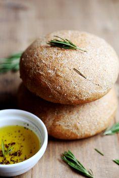 Whole Wheat Rosemary Bread Buns