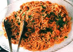 Shrimp Spaghetti, Shrimp Pasta, Greek Shrimp, Greek Recipes, Recipe Collection, Japchae, Main Dishes, Seafood, Appetizers