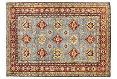 Bashian Kazak Rug, Light Blue/Red/Multi - One Kings Lane