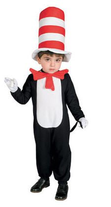 Toddler Cat In The Hat Costume - Dr. Seuss Cat In The Hat Deluxe Toddler Costume Sally and Nick go on an adventure with a very unusual . Up Halloween, Toddler Halloween, Halloween Fancy Dress, Halloween Costumes For Kids, Halloween Makeup, Toddler Costumes, Cute Costumes, Baby Costumes, Costume Ideas