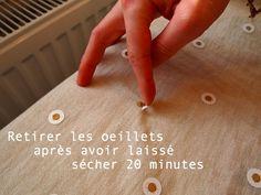 • lilikus •: # DIY • Customiser une écharpe unie en collant des oeillets ! résultat net et sans bavure pour de jolis petits pois !!