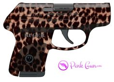 Pink Gun - Ruger LCP .380 semi-automatic pistol cheetah decoration concept at http://www.PinkGun.com