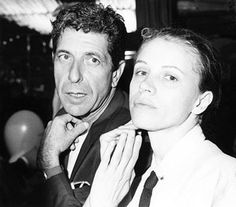 "Leonard Cohen, musician  (photo by Lois Siegel)    From ""Leonard Cohen,"" The Canadian Encyclopedia.  Photo of Leonard and Dominique Issermann, year unknown."
