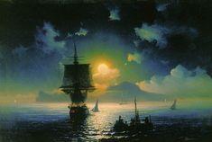 Лунная ночь на Капри - 1841 год. Айвазовский Иван Константинович