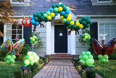 Bees, ladybugs, butterflies, jungle animals and other critters are a Party Fiesta Balloon Decor specialty!   The Very Hungry Caterpillar!  www.partyfiestadecor.com