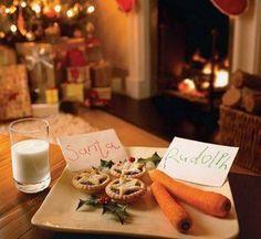 Latte, dolce e carote per Babbo Natale e la sua renna