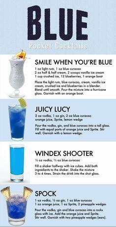 Top Drinks, Liquor Drinks, Summer Drinks, Cocktail Drinks, Cocktail Recipes, Alcoholic Drinks, Beverages, Good Bar Drinks, Blue Drinks