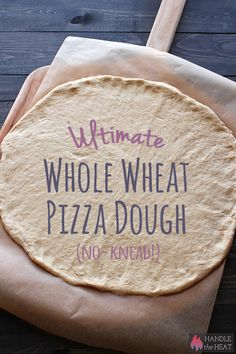 Ultimate No-Knead Whole Wheat Pizza Dough is ridiculously simple and easy and just as tasty, light, chewy, and crisp as regular pizza crust.