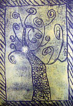 Klimt inspired styrofoam prints