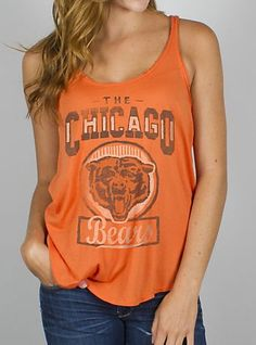 NFL Chicago Bears Touchdown Tank.... WANT...MUST HAVE!!!!!!!!!!!!!! @Cecilia Börjesson Hernandez