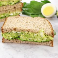This is the BEST egg salad recipe. You will LOVE the avocado addition! You can use your leftover hard boiled eggs to make an easy, delicious, and healthy egg salad. You can eat this avocado egg salad Avocado Egg Recipes, Avocado Egg Salad, Avacado Snacks, Yogurt Recipes, Healthy Recipes With Avocado, Meals With Avocado, Vegetarian Recipes For Kids, Salads For Lunch, Avocado Ideas