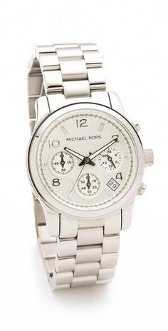 514f1f8d2b10e #SilverRingForHim #SilverNecklaceWithPearl Michael Watches, Michael Kors  Watch, Sporty Chic, Sport Watches