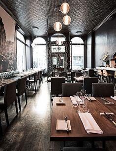 Les 400 Coups restaurant in Old Montreal. 400 rue Notre-Dame Est; 514-985-0400; les400coups.ca