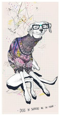 Dog by Anion , via Behance Not sure why I think this is so interesting...