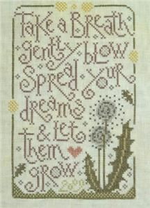 Embroidery.com: Dandy Dreams Cross Stitch Pattern from Silver Creek Samplers. I also have this one kitted up and ready to stitch.