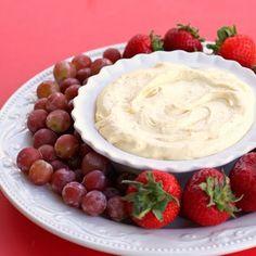 orange creamsicle fruit dip   8 oz cool whip lite  1 sm pkg instant vanilla pudding mix  1 6 oz frozen oj thawed a bit