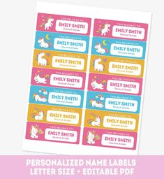 12 Best Kids Name Labels Images Baby Names Children Names First