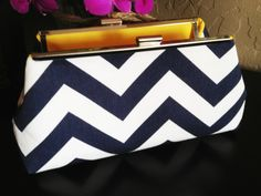 Bridesmaid Clutches Navy and Yellow 7 by CoCoMi on Etsy, $210.00