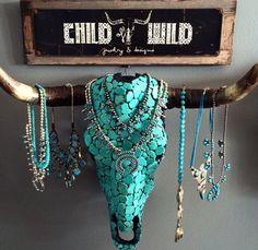 Interesting jewellery hanger
