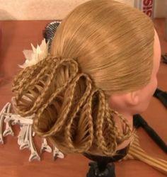 accordion braided bun