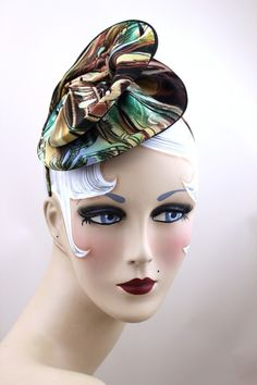 marbled print headpiece
